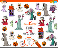 find one of a kind game with Halloween characters