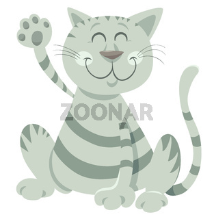 funny tabby cat cartoon animal character