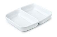 Porcelain twin sauce dipping dish