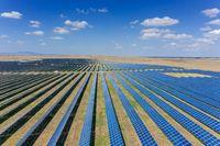 many panels of solar cells
