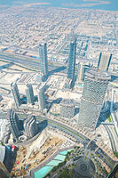 UAE. Aerial view from the height of Burj Khalifa