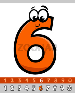number six cartoon character