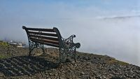 bench above the clouds