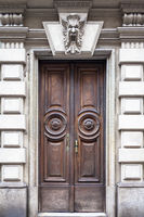 Mysterious wooden door