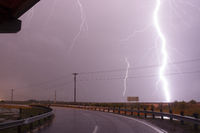 Raining Horizontally Thunderstorm Texas Gulf Of Mexico West Bay