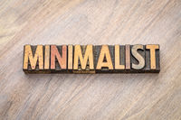 minimalist word abstract in vintage wood type