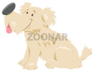 cute shaggy dog cartoon character