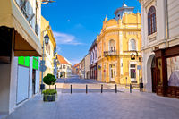 Vukovar town square and architecture street view