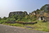 The Sion Hillock Fort in Mumbai, India.