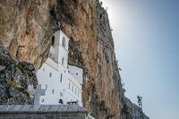 Ostrog Orthodox monastery in Montenegro