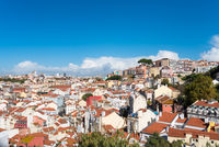View to the Mouraria district of Lisbon