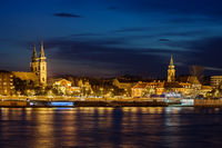 Budapest City Skyline At Night