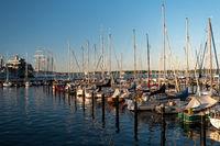 KIEL, GERMANY - JUNE 22, 2019: During the Kieler Woche 2019 the  Naval Base of Kiel arranged an Open Ship in the Tirpitzhafen .  Illustrative editorial