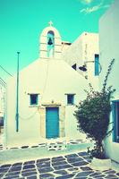 Small greek church in Mykonos