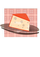 cheese plate illustration with vintage taste