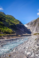 Franz Josef glacier and river, New Zealand