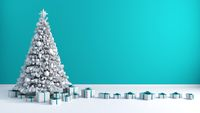 Christmas Tree Background with Copy Space