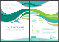 Flyer Template with Waved Stripes