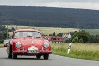 Porsche 356 A bei der 24. ADAC Oldtimerfahrt am 2.6.2018 in Ranis, Thüringen