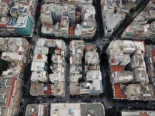 Bird's eye view of the Greek city of The saloniki.