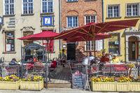 Outside Restaurants On Long Street, Gdansk, Poland