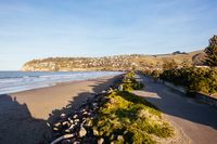 Cave Rock at Sumner Beach in Christchurch New Zealand