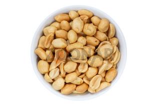Erdnüsse Nüsse von oben isoliert freigestellt Freisteller