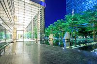 empty, modern square in modern city