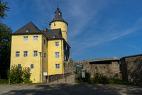 Entry castle Homburg in the village Nuembrecht