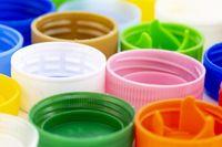 Colorful plastic bottle caps