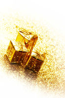 Gold gift boxes