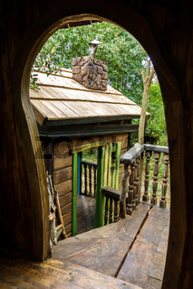 Fantasy tree house for children, playing