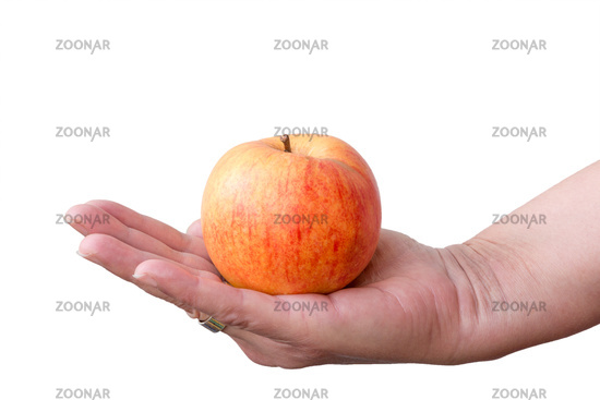 Apfel auf einer Hand