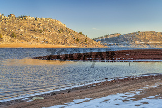 Horsetooth Reservoir in winter