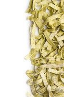Raw italian pasta. Dry noodles.
