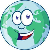 Planet Earth Cartoon Character