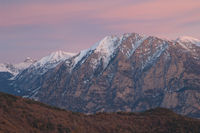 Peaks of the Ordesa and Monte Perdido National Park from Alto Añisclo. Pyrenees. Huesca. Aragon. Spain.