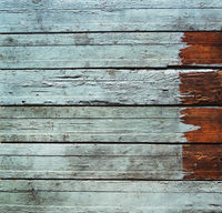Decorative turquoise wooden background with horizontal planks