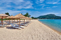 Beautiful beach in Toroni, Greece