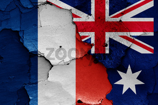 flags of France and Australia