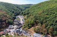 Aerial view village Brandenbourg in Luxembourg