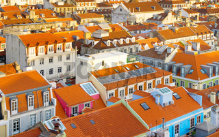Roofs Lisbon Old Town, Portugal