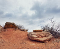 Rocks in Palo Duro Canyon state park.Texas.