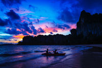 Railay beach on sunset, Krabi Province Thailand