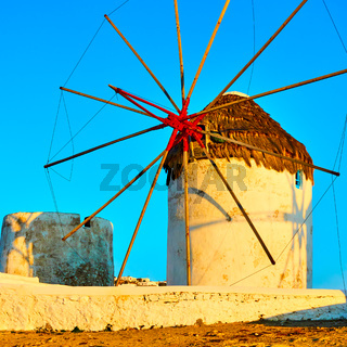 Old windmill in Mykonos