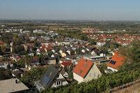 Blick auf Heppenheim an der Bergstrasse