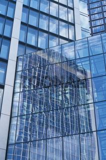 Glas Fenster in Business Hochhaus in Frankfurt