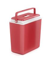 Red portable refrigerator