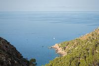 View of the sea, coast of Mallorca
