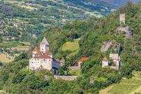 Historic castle Trostburg in the Eisack Valley